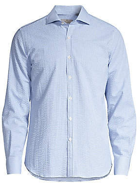 Canali Men's Modern-Fit Small Check Sport Shirt