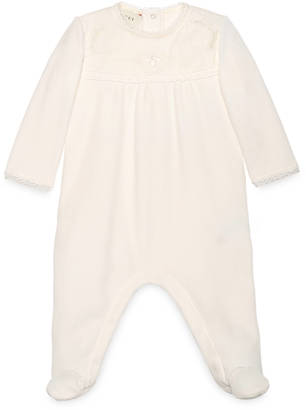Baby chenille sleepsuit with lace $330 thestylecure.com