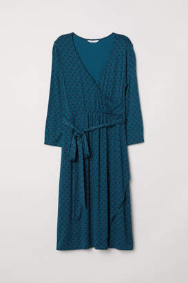 H&M MAMA Wrap Dress - Turquoise