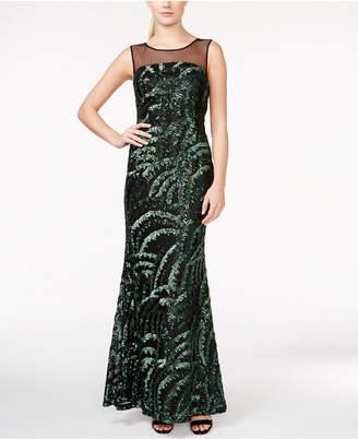 Calvin Klein (カルバン クライン) - Calvin Klein Sequin Illusion-Yoke Gown