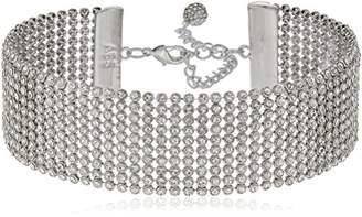 ABS by Allen Schwartz A B S BY ALLEN SCHWARTZ black magic rhinestone chain mail choker necklace