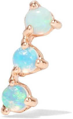 Wwake - Three Step 14-karat Gold Opal Earring - one size $180 thestylecure.com