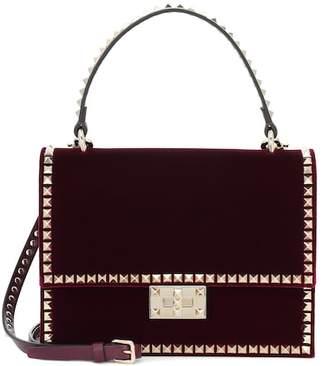 Valentino Rockstud No Limits velvet shoulder bag