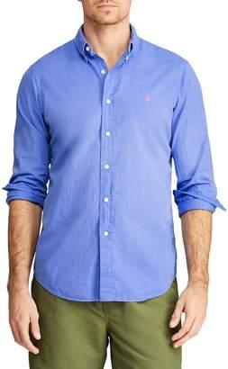 Polo Ralph Lauren Embroidered Long-Sleeve Button-Down Shirt