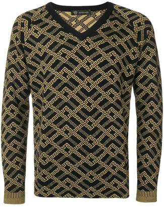 Versace printed knit sweater