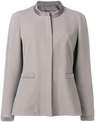Giorgio Armani round neck fitted jacket