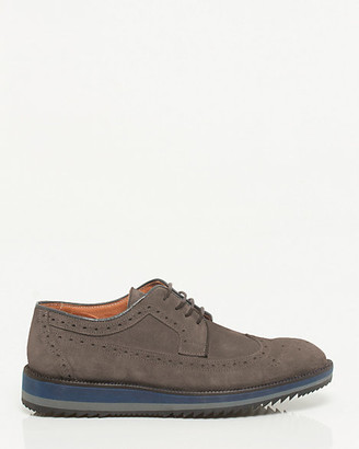 13362e4f01f2 Le Château Italian-Made Suede Longwing Derby Brogue