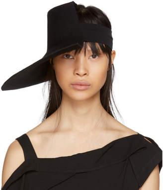 Yohji Yamamoto Black Wool Wide Brim Felt Hat