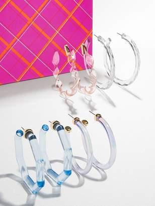BaubleBar Cotton Candy Sky Lucite Hoop Set