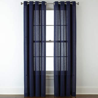 JCPenney JCP HOME HomeTM Cotton Classics Solid Grommet-Top Curtain Panel
