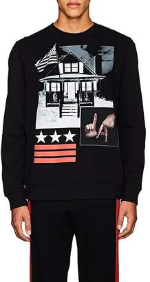 Givenchy Men's Cuban-Fit Graphic Cotton Fleece Sweatshirt