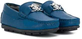 Roberto Cavalli logo plaque loafers