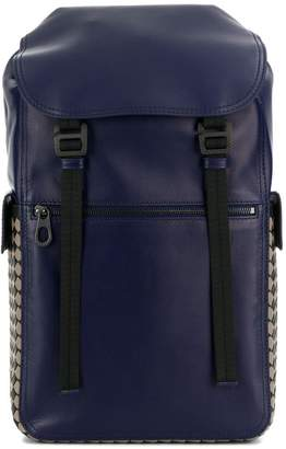 Bottega Veneta Intrecciato checker backpack