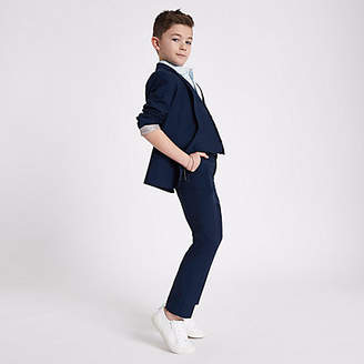 River Island Boys navy suit pants