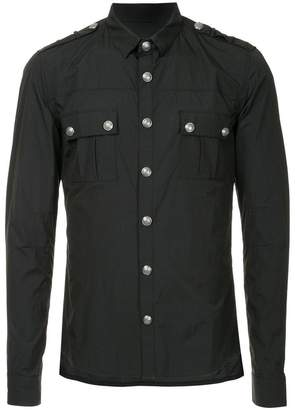 Balmain fitted military style shirt