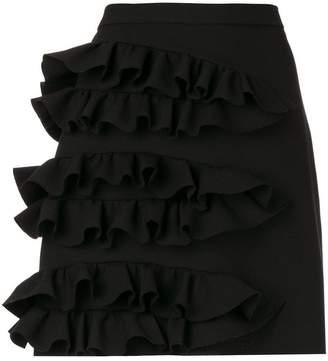 MSGM ruffled detail mini skirt