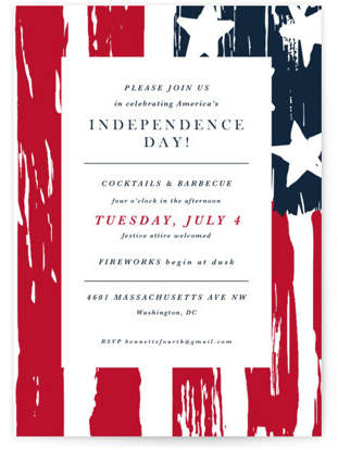 Independence Day Holiday Party Invitations