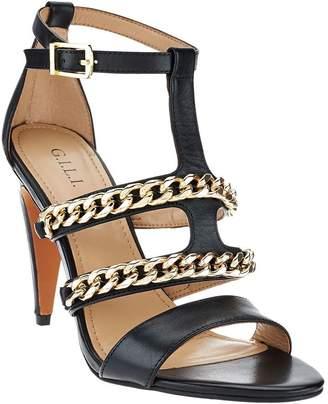 G.I.L.I. Got It Love It G.I.L.I. Leather Sandals w/ Chain Detail - Nylah