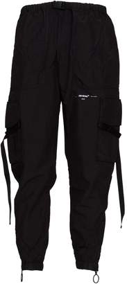 Off-White Off White Black Parachute Cargo Pants In Black