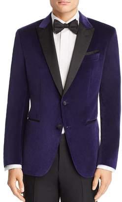 5db9e477145 HUGO BOSS HUGO Helward Velvet with Satin Lapel Slim Fit Tuxedo Jacket