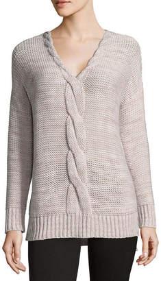212 NY Womens V Neck Long Sleeve Pullover Sweater