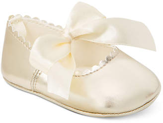 First Impressions Baby Girls Metallic Scalloped Ballet Flats