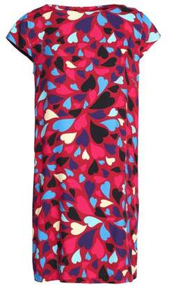 Love Moschino Printed Faille Mini Dress