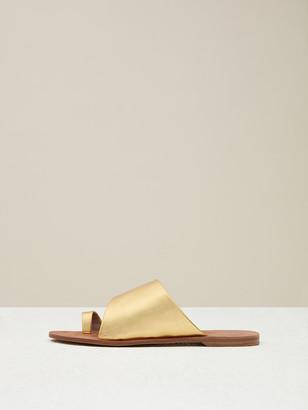 7b25790bde6d Diane von Furstenberg Brittany Metallic Leather Sandals