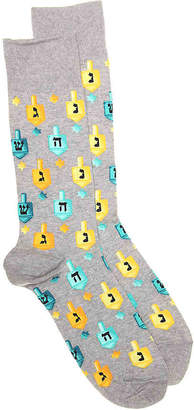 Hot Sox Dreidels Crew Socks - Men's