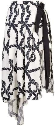 Monse pleated drape skirt