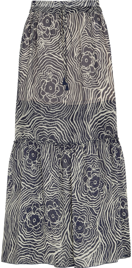 See By Chloe See by Chloé Floral-print silk-chiffon maxi skirt