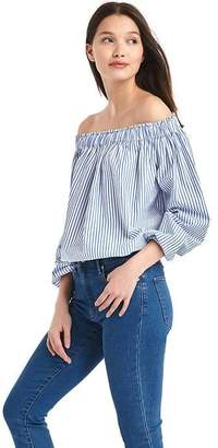 Stripe off-shoulder top $54.95 thestylecure.com