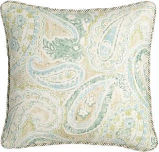 "Neiman Marcus Sherry Kline Home Bliss Paisley Pillow, 18""Sq."