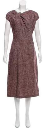 Gianfranco Ferre Wool-Blend Midi Dress