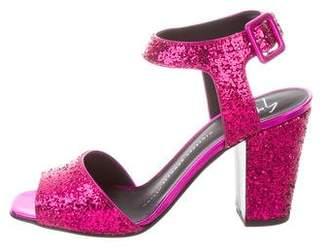 Giuseppe Zanotti Glitter Ankle Strap Sandals w/ Tags