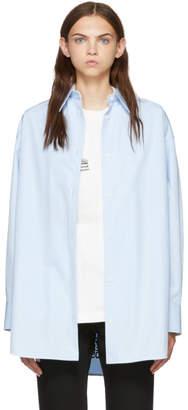 Calvin Klein (カルバン クライン) - Calvin Klein 205W39NYC ブルー オーバーサイズ ツイスト ポプリン シャツ