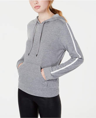 Material Girl Active Juniors' Stripe-Detailed Pullover Hoodie
