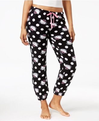 Hello Kitty Plush Jogger Pajama Pants $28 thestylecure.com