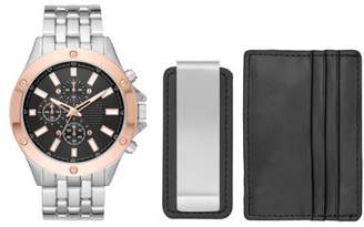 Unbranded Men's Watch Gift Set with Wallet and Money Clip