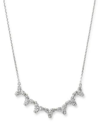Bloomingdale's Diamond Three Stone Bar Necklace in 14K White Gold, 1.0 ct. t.w. - 100% Exclusive