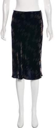 Diane von Furstenberg Velvet Knee-Length Skirt