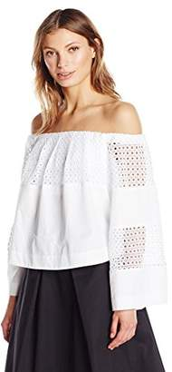 KENDALL + KYLIE Women's Off-Shoulder Contrast Top