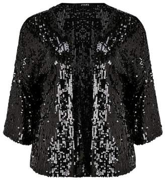 Evans Black Sequin Cover Up