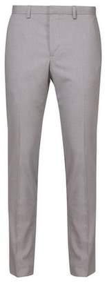 Mens Light Grey Slim Fit Stretch Trousers