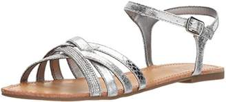 Kenneth Cole Reaction Women's Just New Flat Sandal with Criss Cross Ankle Straps
