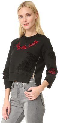 DSQUARED2 Jersey Sweatshirt $590 thestylecure.com