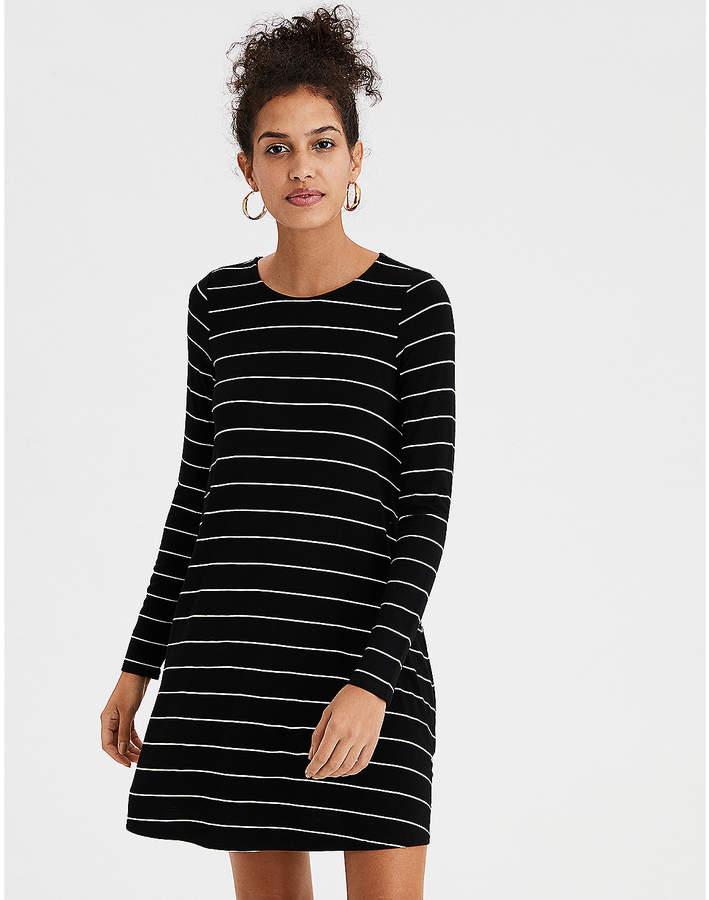 AE Long Sleeve Knit Swing Dress