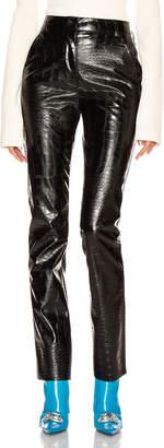 Brognano BROGNANO Crocodile Print Skinny Trouser in Black | FWRD