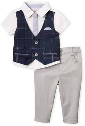 Baby Essentials Miniclasix (Newborn/Infant Boys) Two-Piece Blue Vested Shirt & Pants Set