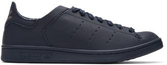 adidas Originals Navy Stan Smith Lea Sock Sneakers $130 thestylecure.com
